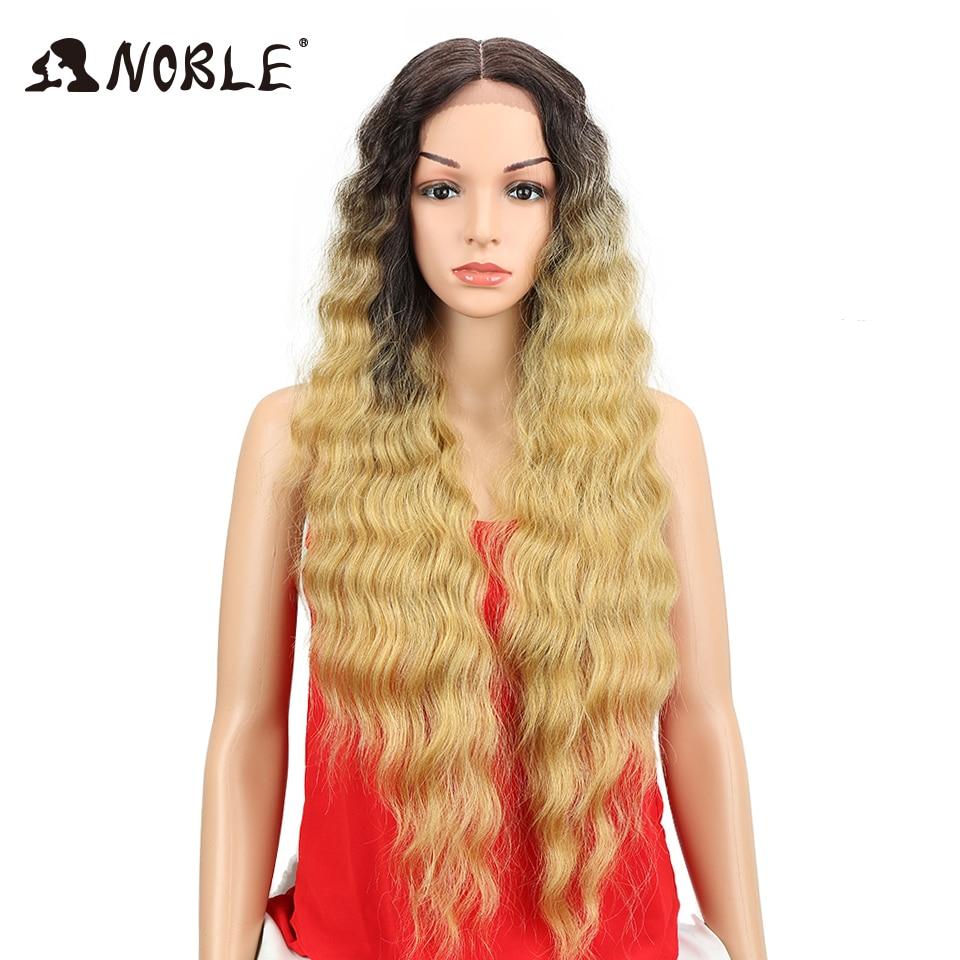 Noble Swiss Lace Front Paryk För Afroamerikanska Kvinnor Natural - Syntetiskt hår