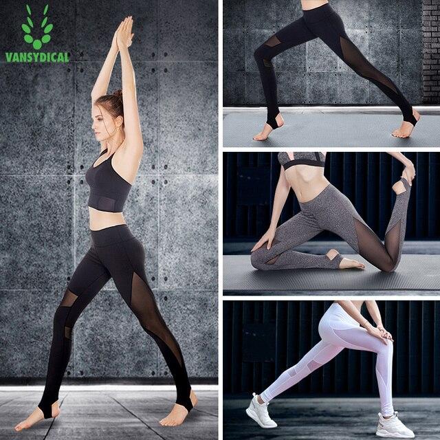 b470a43aa6 Yoga Sports Leggings For Women Sports Tight Mesh Yoga Leggings Comprehension  Yoga Pants Women sex Running