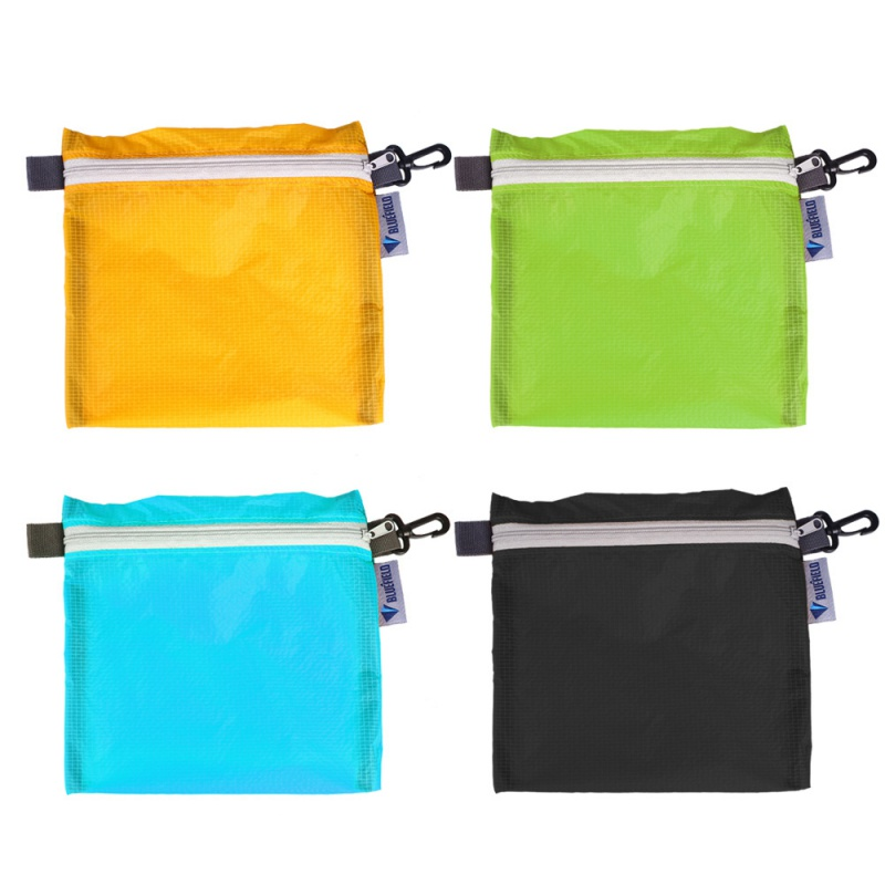 Outdoor Waterproof Bag For Camping Hiking With Hook Zipper Storage Bag 4 Colors Pocket Pouch