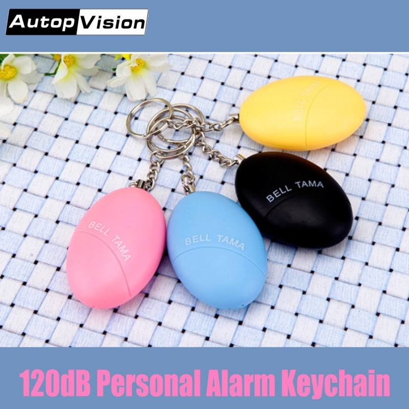 50pcs/lot Portable Emergency Self Defense Personal Security Alarm Keychain 120dB Anti-rape Anti-attack Safety Alarm For Women