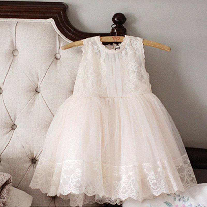 2017 Summer Baby Girl Elegant Lace Princess Party Festive Dress Clothes Kids Dresses for Girls Teenager Vestidos 3-10Y GDR257