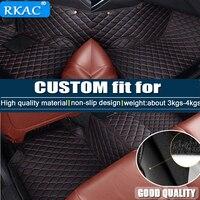 RKAC Car Accessories Custom Foot Mats 3D Luxury Leathercar floor mats for Alfa Romeo Giulia waterproof accessories