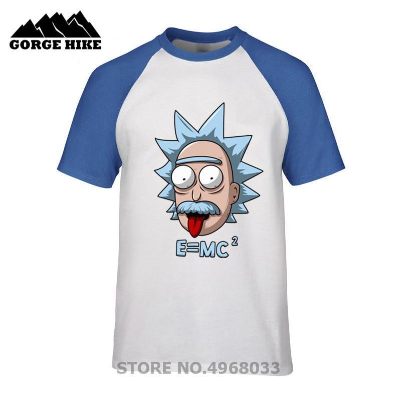 09ebf382 2019 Men's Fitness Party tshirt male Albert Einstein E MC2 Sheldon Rick and  Morty T Shirts Physics Science Short Sleeve T-shirts