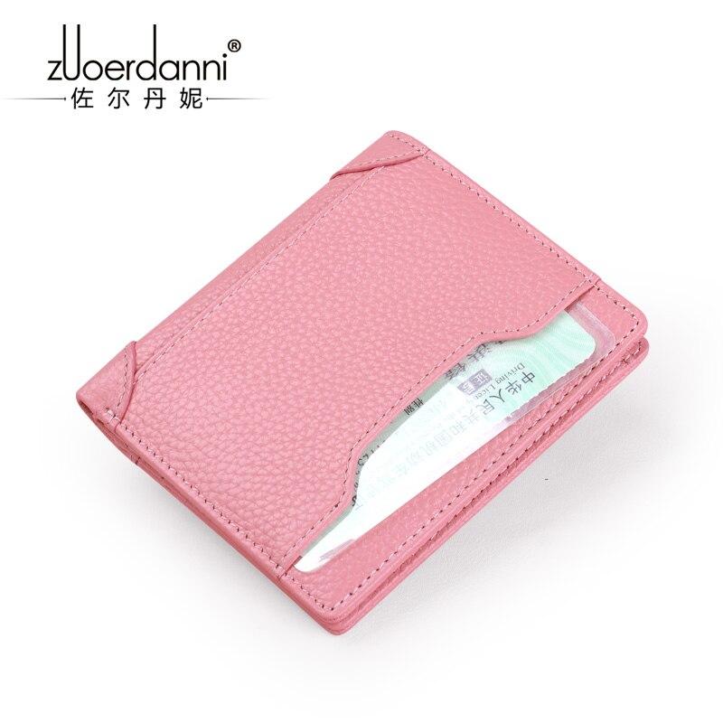 Купить с кэшбэком new leather mini wallet female leather short compact mini multi-functional leather wallet