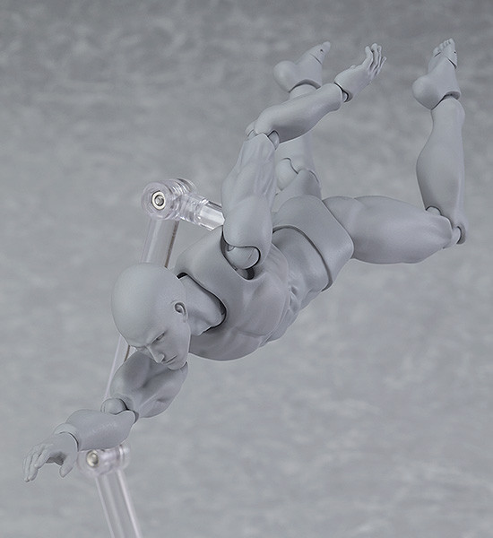 14cm Figma Archetype Action Figure Body He She Male Female Grey Color Model Doll for Decoration