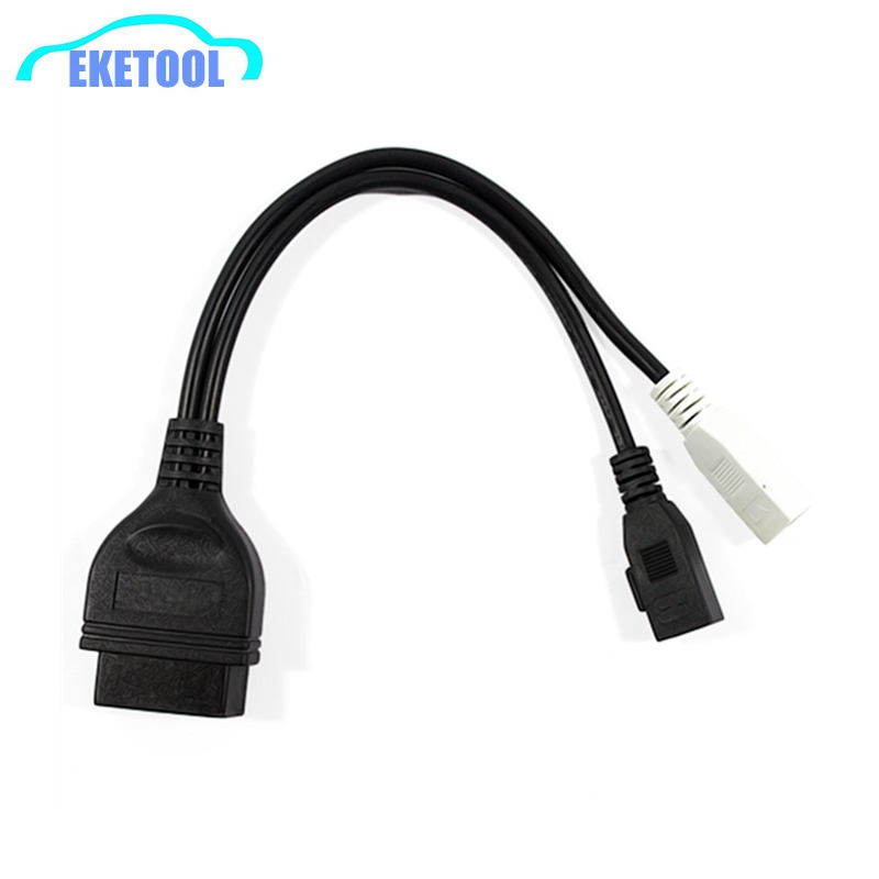OBD OBD2 Car Diagnostic Cable Connector 2P+2P To 16Pin For Audi VW Skoda VAG COM Adapter For Audi 2X2 To 16Pin Female