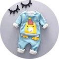Inverno quente Bebê menino roupas 9 12 18 24 meses 2016 novo estilo de alta qualidade A010