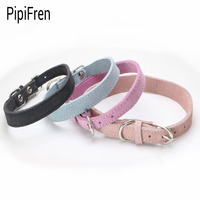 PipiFren Small Dogs Collars Puppy Real cowhide For Accessories Chihuahua Dog Necklace Leather Pets Collar Shop honden halsband