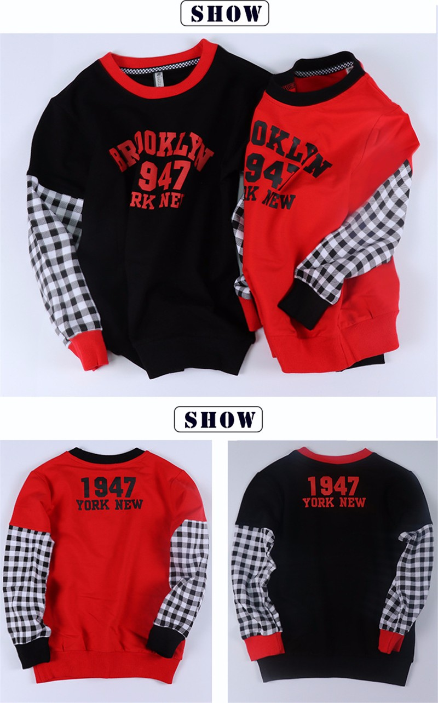 T-Shirt For Boy Sweater Ruffle Raglan Shirts Child Bobo Choses  The Boy\'s Clothes Kids Tees Children Tops Teenage Boys Clothing 15