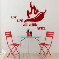 Wall Decals Quote Spice Pepper Kitchen Vinyl Sticker Dining Room Decor Art