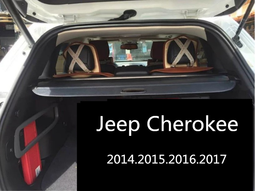 car rear trunk security shield cargo cover for jeep cherokee high qualit. Black Bedroom Furniture Sets. Home Design Ideas