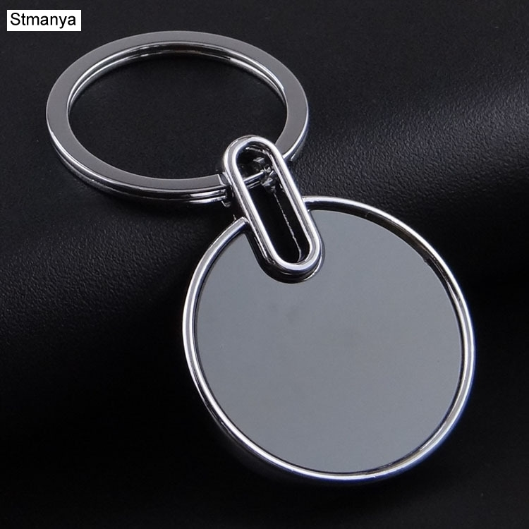 Blank Metal Tag Key Holder Can Be Laser Logo Logo New Car Keychain Practical Gifts K1558