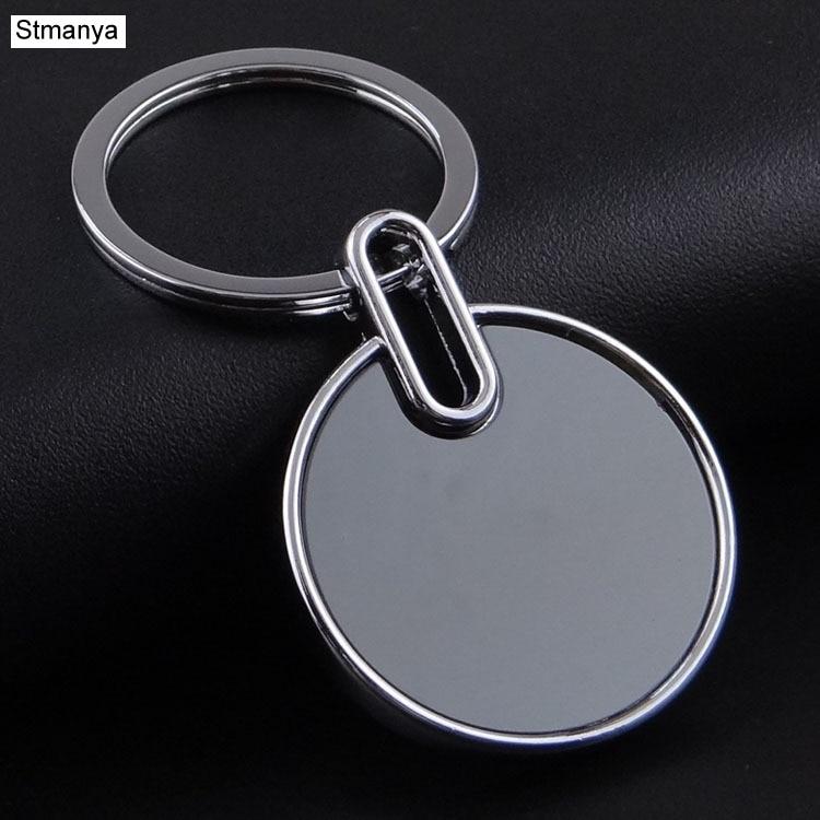 Blank Metal Tag Key Holder Can Be Laser Logo Logo Creative Car Keychain Practical Gifts K1558