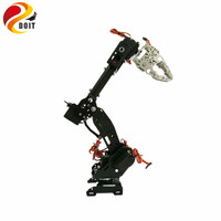DOIT DoArm S8 8 DoF Stainless Steel Metal Robot Arm/hand Robotic Manipulator ABB Arm Model Claw for Arduino WiFi Kit