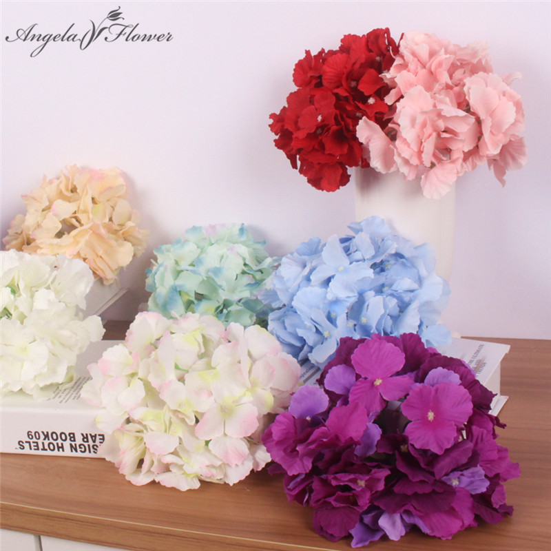 Home & Garden 18cm 54 Petals Big Hydrangea Flower Heads Artificial Flowers Home Diy Wedding Garden Decoration Fake Floers Wall Party 15pcs/lot Promoting Health And Curing Diseases Artificial & Dried Flowers
