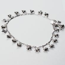 Ring ting tingle-ing too~High quality white gold plated woman anklets with cute hearts 2015 fashion