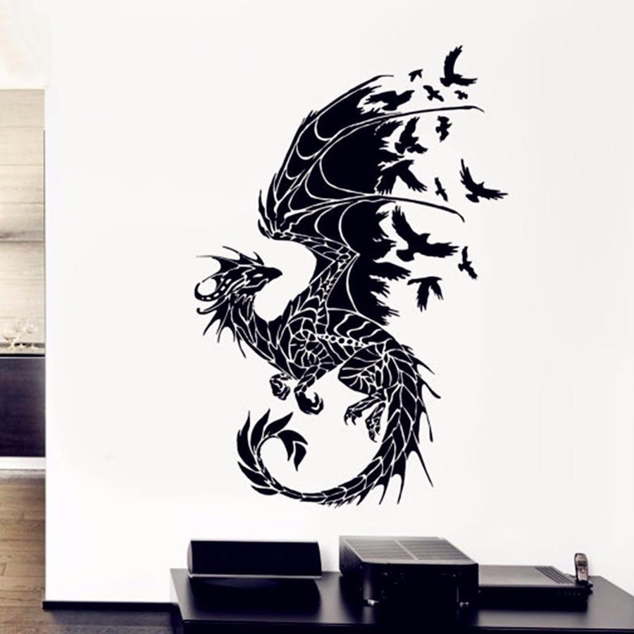 ASAPFOR Dragón Aves Fantasía Cuento de hadas Calcomanías de vinilo - Decoración del hogar