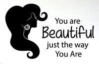 Salone di bellezza autoadesivo della parete dei capelli citazioni di modo gir barbiere lettering wall art sticker capelli salone di bellezza decorazione della stanza