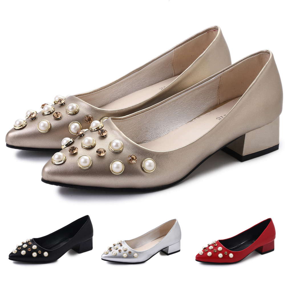 Jaycosin Women Ladies Fashion Crystal Casual Slip On Pointed Toe <font><b>Sexy</b></font> And Individual Single <font><b>Shoes</b></font> 2019 New July <font><b>11</b></font> P35 image