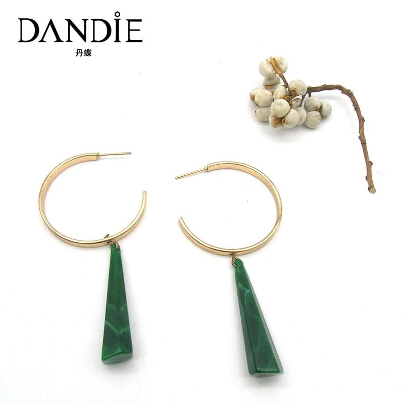 Dandie Trendy Green Acrylic Black Tassel Earrings, For A Woman's Daily Wear