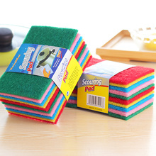 Good 10 Pcs / Set Color Highly Efficient Scouring Pad Dish Cloth Cleaning Wipers Kitchen  Rags Strong Decontamination Dish Towels