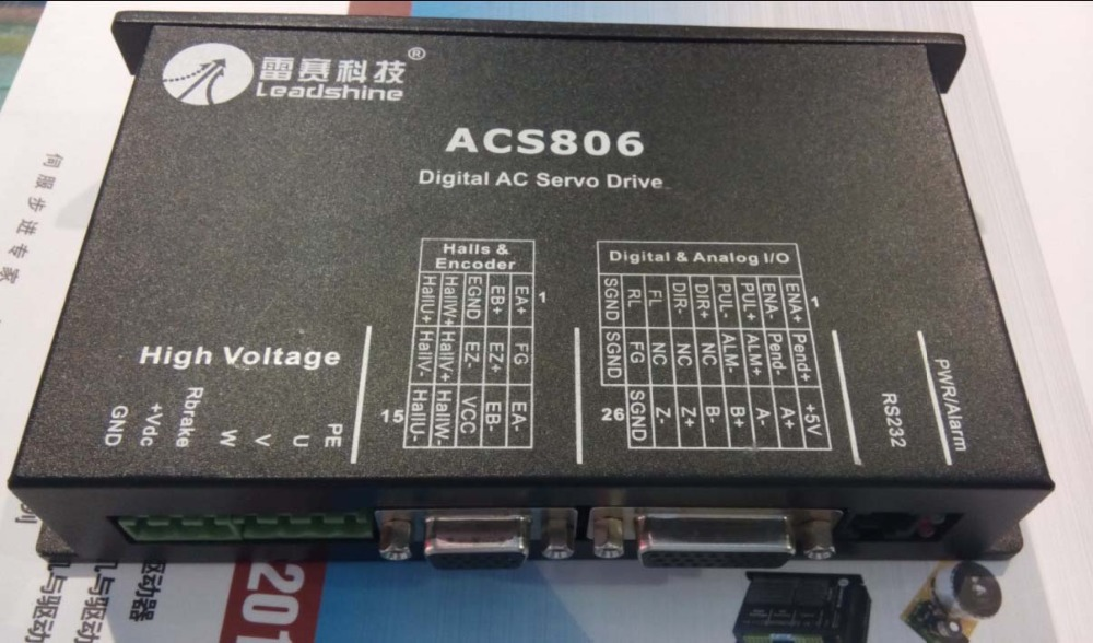 New Leadshine servo driver ACS806 work at 48- 80VDC Out 0A to18A work with 400W servo motor ACM604V60-01-2500 CNC wholesale 3 pcs a lot leadshine ac servo drives acs606 work 24 60 vdc out 0a to18a fit blm57180 1000 brushless servo motor