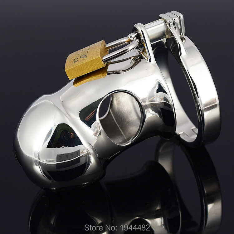 Sex Toys For Men Male Chastity Belt Penis Ring Stainless Steel Chastity Device Metal Cock Cage Sex Products Bondage Cock Lock top silicone penis sleeve extender enlargement male chastity sex toys extension cock sleeves dick sock reusable condoms for men