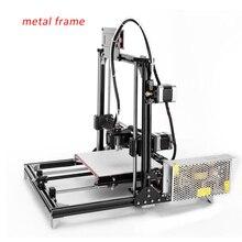 Buques De Rusia más reciente Flsun3D 3D DIY Impresora Prusa I3 I3 Kit de Impresora 3D Cama Calentada Dos Rollos Filamento SD tarjeta