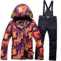 2017 High Quality Ski Suit Women Men Skiiing Snowboard Jackets And Pants Thick Warm Snow Waterproof