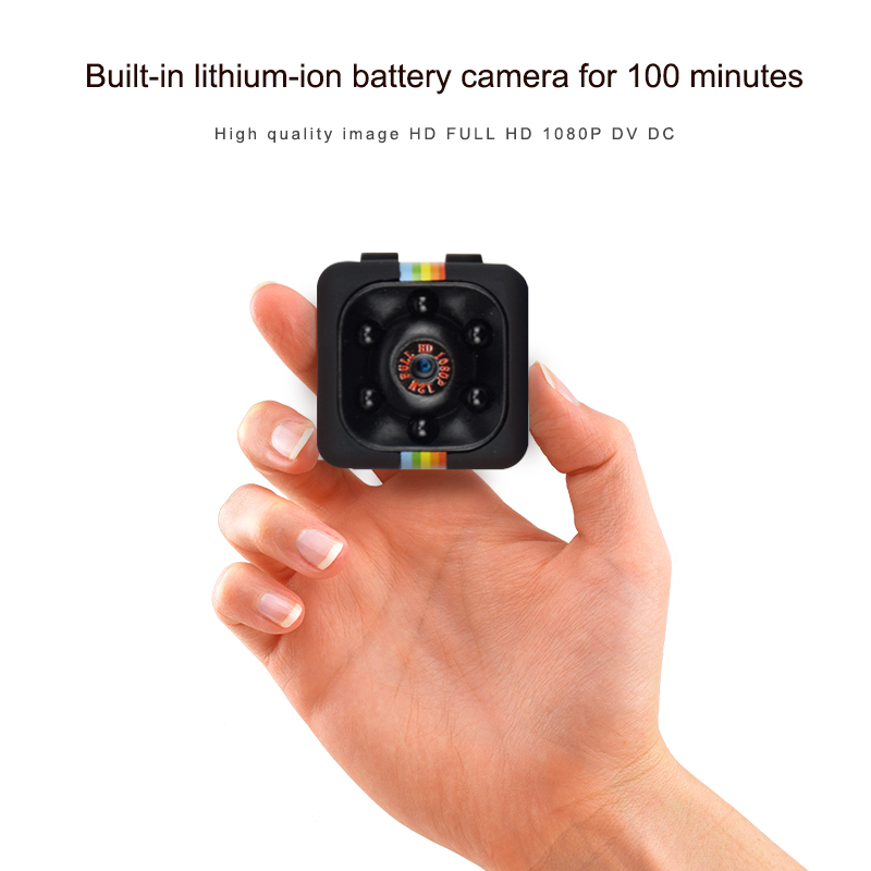SQ11 Mini Camera 1080p Home Security Infrared Night Vision Camera Monitor Concealed Video Camera 3