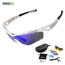 Cycling Glasses WOLFBIKE UV400 Polarized Lens Bike Accessories Bike Goggles Outdoor Sports Bicycle Sunglasses, 5 Colors