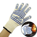 Hot 2pcs/set Oven Gloves Silicone Heat Proof Resistant Fireplace Gloves Silicone BBQ Gloves Outdoor Barbecue Oven Gloves Kitchen
