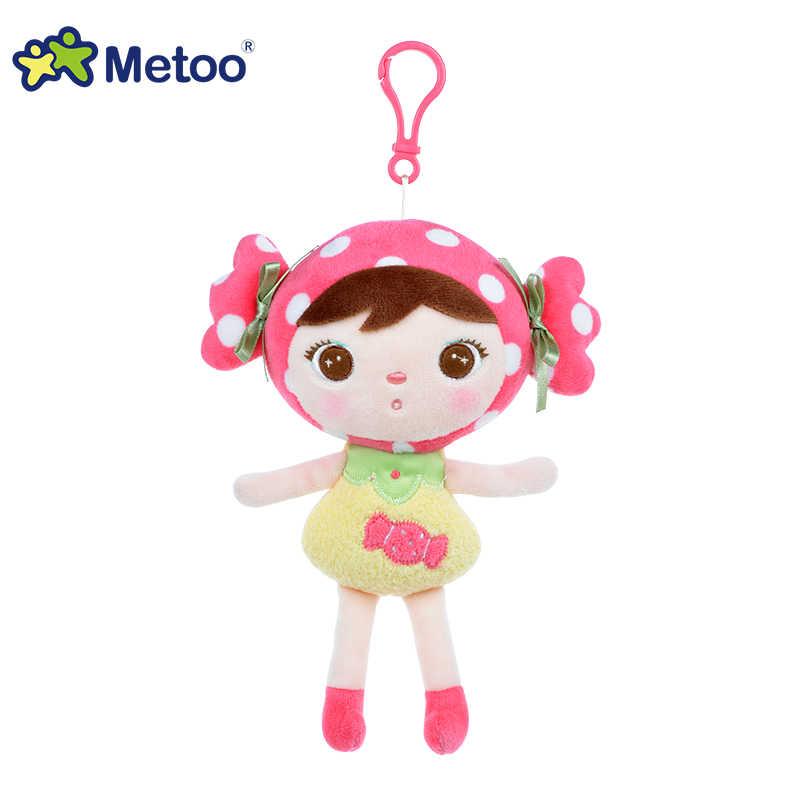 Kawaii animais de pelúcia recheado bonito mochila pingente bebê crianças brinquedos para meninas aniversário natal keppel boneca panda metoo boneca