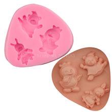 Силиконовое мыло для помадки в виде животного кролика утки медведя