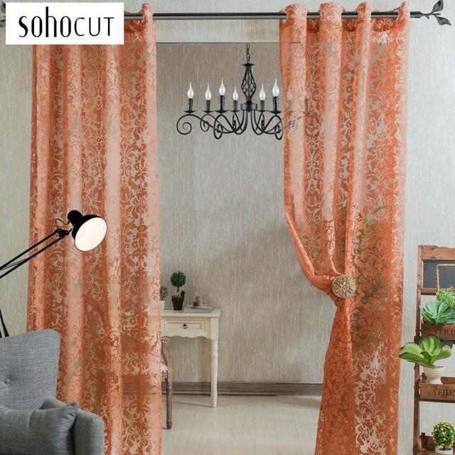 Fancy Curtains Beaded Curtain Door Window Curtain Living Room Curtain Floral
