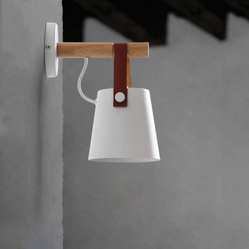 Настенный светильник настенная деревянная лампа прикроватные свет коридор, лестница отель современный прохода исследование фон ночник арт-бра бюстгальтер