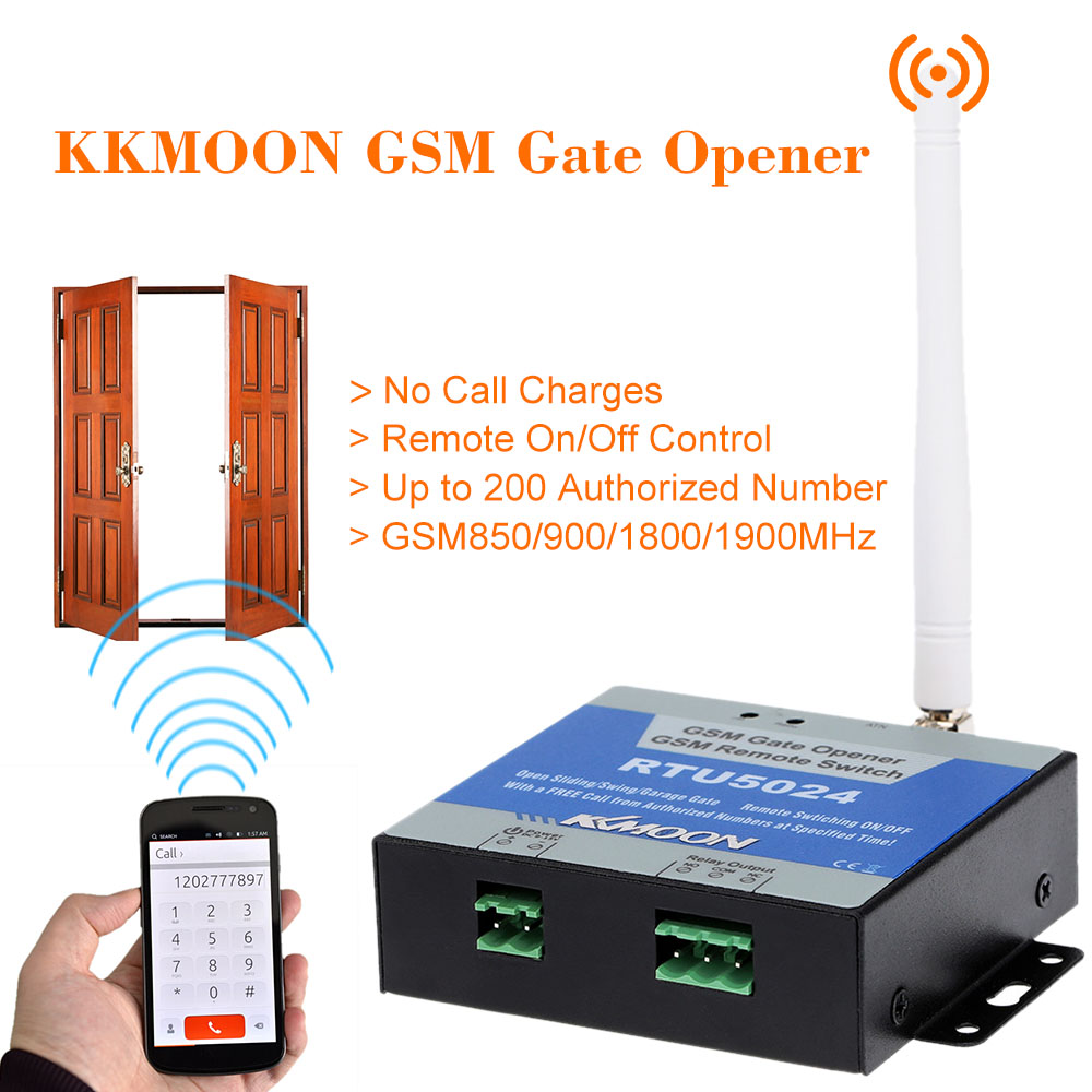 GSM Gate Opener GSM Remote Switch RTU5024 Garage Swing Sliding Gate Opener Remote Control On/Off Switch Access Door OpenerGSM Gate Opener GSM Remote Switch RTU5024 Garage Swing Sliding Gate Opener Remote Control On/Off Switch Access Door Opener