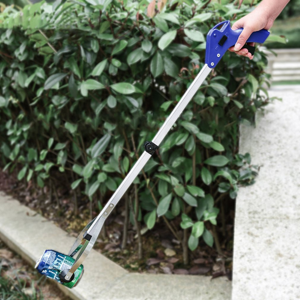 82cm foldable garbage pick up tool grabber reacher stick for Gardening tools for 3 year old