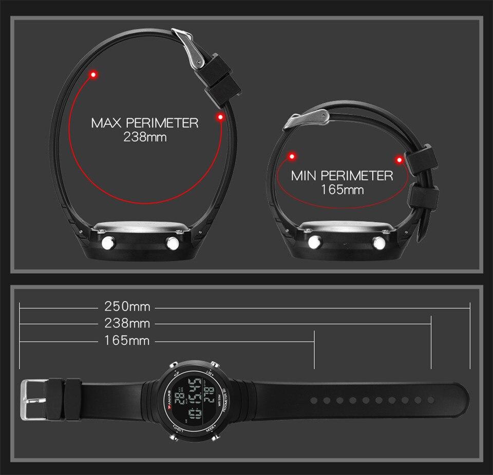 Pedometer Watch Clock Woman Waterproof 50M Outdoor Digital Sports Watch Women Simple Small Bracelet Hand Wrist Watches Hour gift (7)