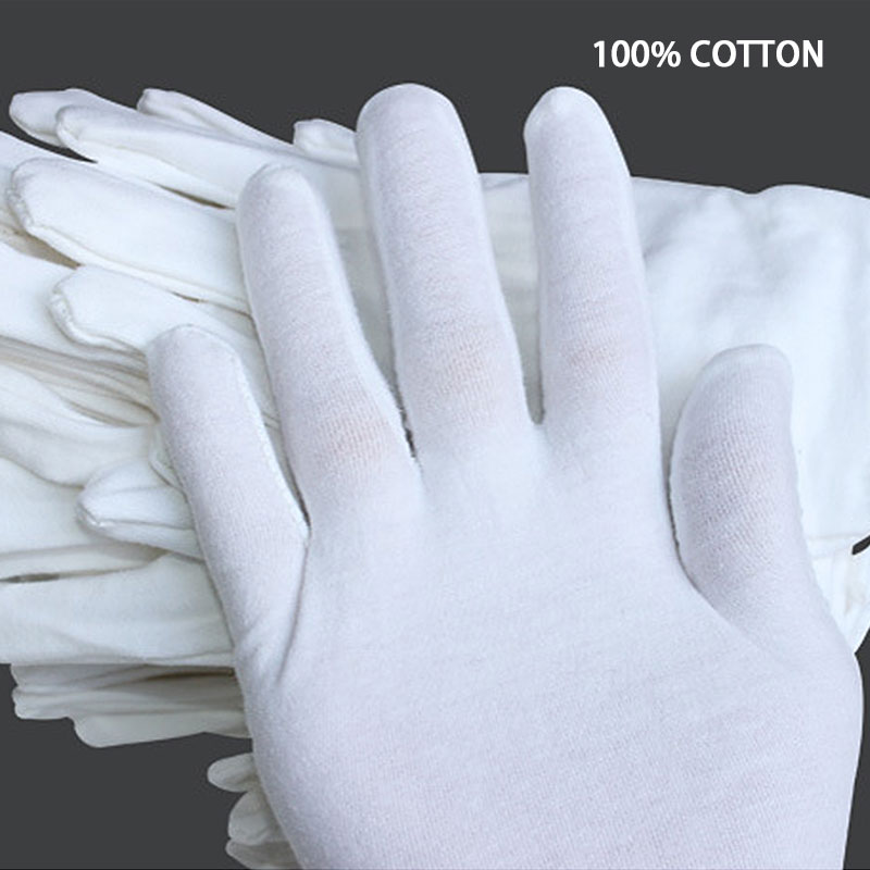 NMSafety High Quality Useful White Cotton Gloves For Housework and Driver Safely Security Glove in Safety Gloves from Security Protection