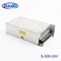 DIANQI power suply 24v 500w input 220v ac to dc power supply ac dc converter high quality led driver S 500 24
