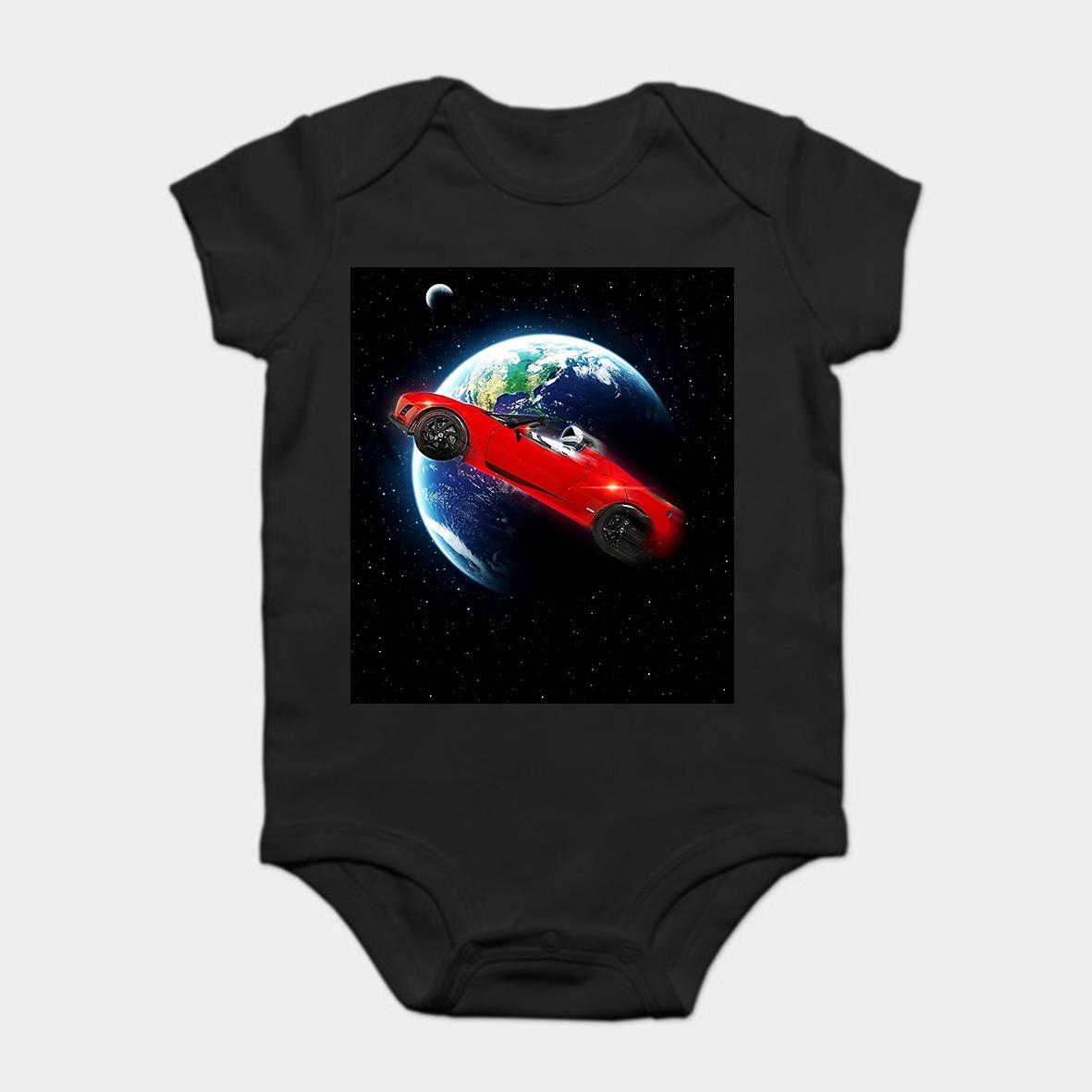 Dedicated Baby Onesie Baby Bodysuits Kid T Shirt Funny Novelty Spacex Roadster Elon Musk Tesla Falcon Heavy