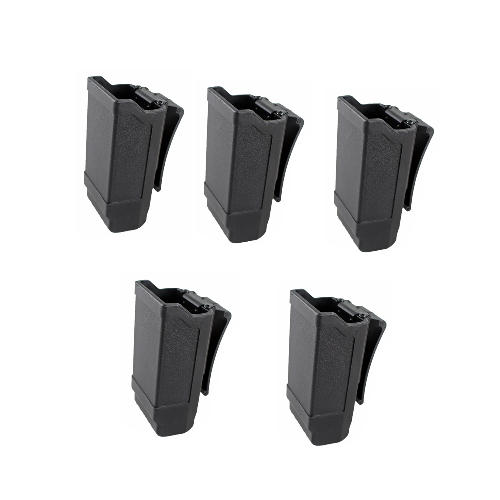 5 Pcs CQC Double Stack Magazine Holster Pistol Accessories Mag Holder For Glock 9mm To .45 Caliber Magazine