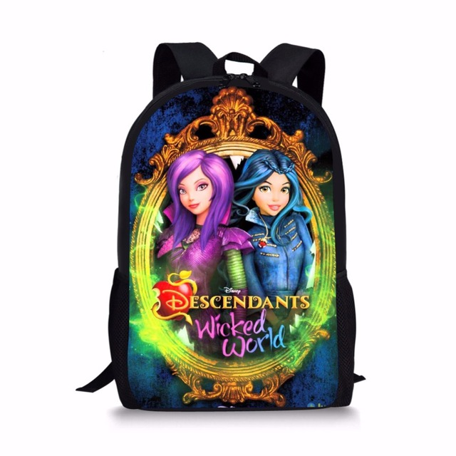 Forudesigns фильм индивидуальный заказ Аниме MAL потомки 2 Школьные ранцы Набор для подростка девочка Bookbag и карандаш сумка основной bagback