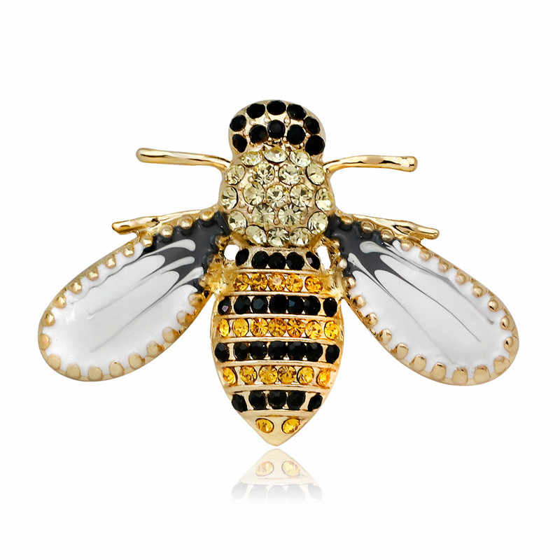 קריסטל סיכת סיכות לנשים שפירית פרפר דבורת סיכות תכשיטי אופנה חתונה מסיבת Bijoux מתנה הטובה ביותר