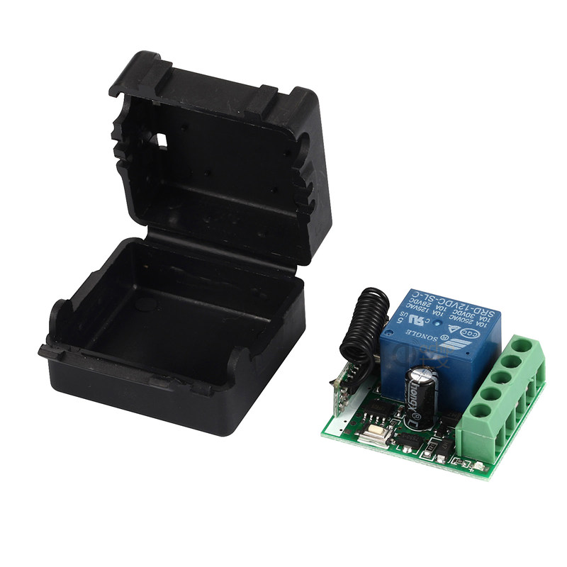 433 Mhz Wireless Remote Control Switch DC 12V 10A 1CH relay 433Mhz Receiver Module For 1527 learning code Transmitter Remote new 1ch 7v 12v 24v dc relay module switch wifi rf 433mhz wireless remote control timer switches for light work by phone