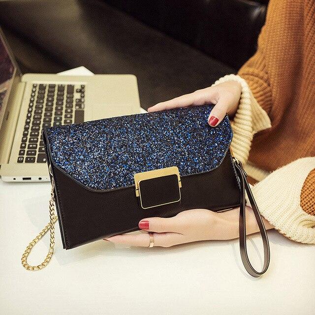 1dd056493ac9 Evening Party Clutch Bags Luxury Handbags Women Bags Designer Bling Korean  Style Fashion Chain Strap Crossbody Bags Shoulder Bag