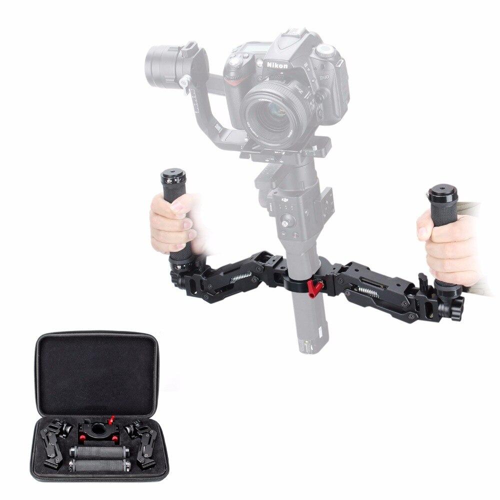 EACHSHOT Z Axis 5 Axis Spring Dual Handle Grip for DJI Ronin S Handheld Handlebar Kit