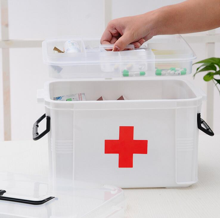 YFJ77-Free Shipping 3M Family Portable Medicine Box Outdoor First Aid Receiving Health B ...