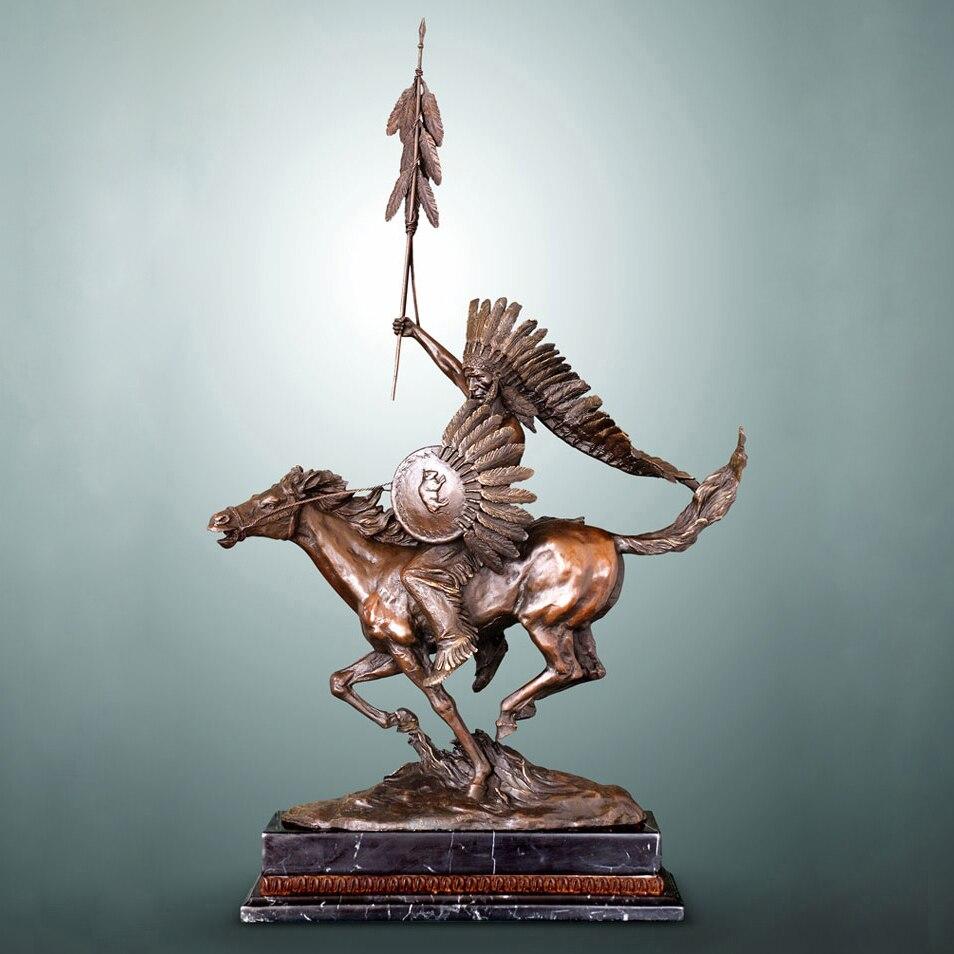 Atlie bronce americano estatua jefe indio escultura vintage casa ...